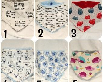 Pick 1, 3, or 5! Bandana Bib, Baby Bibs, Baby Drool Bib, Baby Bibs Girl, Bandana Drool Bib, Dribble Bib