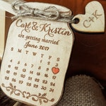 Calendar Save-the-Date magnet Mason Jar Save The Date Calendar wedding magnets custom save the date rustic save the date wood save the date