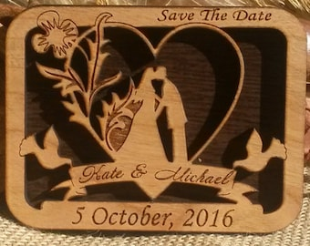 Wood Save-the-date  Magnet, save the date wedding magnets, rustic save the date magnets, custom save the dates, personalized magnets