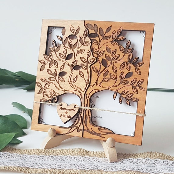 Holz Hochzeitskarte Einzigartige Hochzeitskarten Etsy
