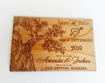 Tree save the date magnets, Custom Wood save the date wedding magnet, Unique wedding magnet for Rustic wedding, Fall save the dates