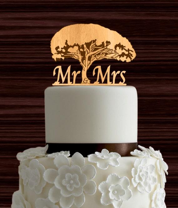 Holz Hochzeitstorte Topper Lebensbaum Cake Topper Herr Etsy