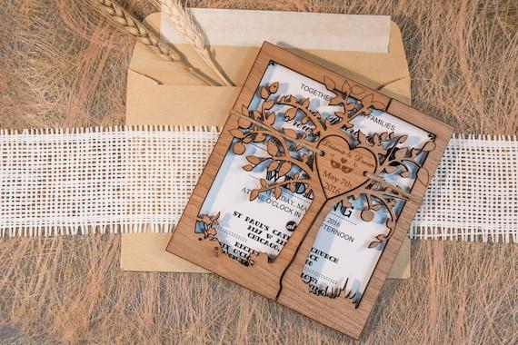 Rustikale Hochzeit Einladung Baum Hochzeit Einladung Rustikale