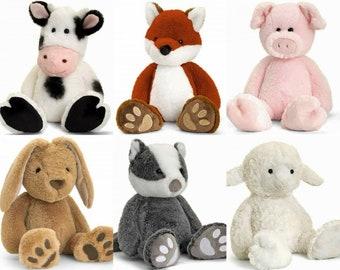 Keel - SOFT TOY TEDDY - Rabbit , Dog , Cat , Badger , Fox , Cow , Pig , Lamb