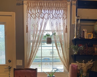 Khari - Handmade Macrame Curtain