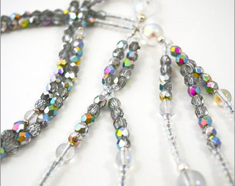 Silver Faceted Crystal, Clear Crystal & Silver - Nichiren Beads - Buddhist Prayer Beads - SGI Beads