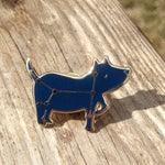 Dog Star Constellation Pin, dog pin, starsign, pin, brooch, enamel pin, wearable art