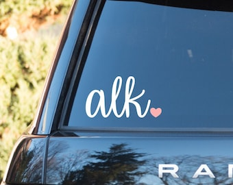 Monogram Car Decal, Vinyl Monogram, Car Monogram, Laptop Monogram, Yeti Decal, Vinyl Decal, Personalized Car Decal, Monogram Sticker