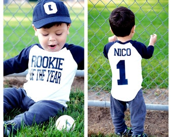 Rookie Of The Year First Birthday Shirt Baseball 1st Boys Party Boy