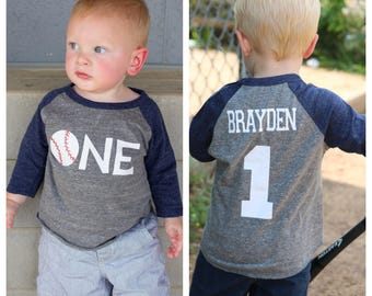 1st Birthday Baseball Shirt Boys T Party
