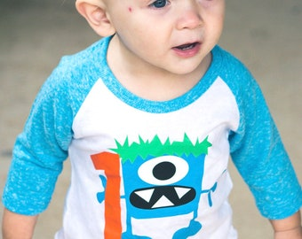 Boys Monster 1st Birthday Shirt Bash Cake Smash Themed Party