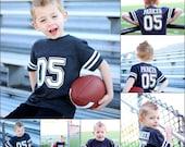 5th Birthday Football shirt, football party, sports birthday shirt, youth football jersey, toddler football jersey, 5th birthday shirt