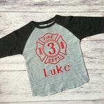 3rd birthday Fire man birthday shirt, Firetruck birthday shirt,  Fire emblem shirt, firetruck birthday party, firefighter shirt