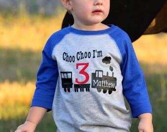 Third Birthday Shirt Choo Im 3 Train T