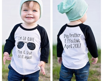 6cbb7406ba973 I'm so cute mom & dad did it again, Promoted To Big Brother shirt, pregnancy  announcement shirt, big brother announcement shirt