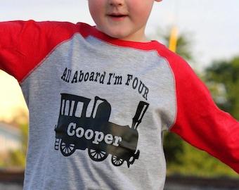 Boys Train Shirt