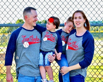 Baseball Birthday Shirts Party Family