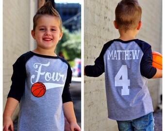 5398019d8689 4th birthday Basketball shirt