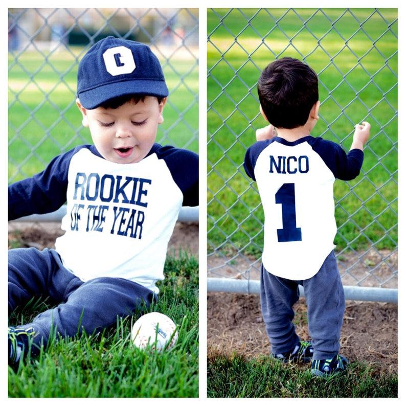 Rookie Of The Year First Birthday Shirt Baseball 1st Birthday