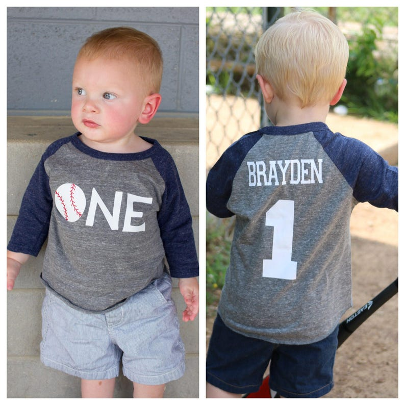 1st Birthday Baseball Shirt Boys
