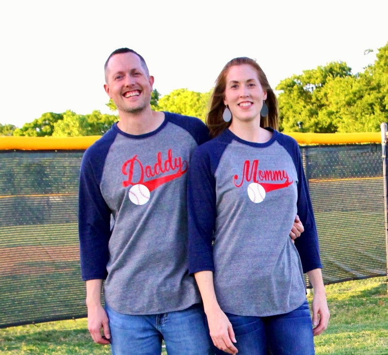 Mom Dad Baseball Birthday Shirts Party