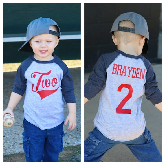 2nd Birthday Baseball Shirt Second Boys