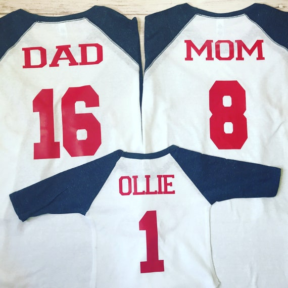 3 Family Baseball Birthday Shirts Matching