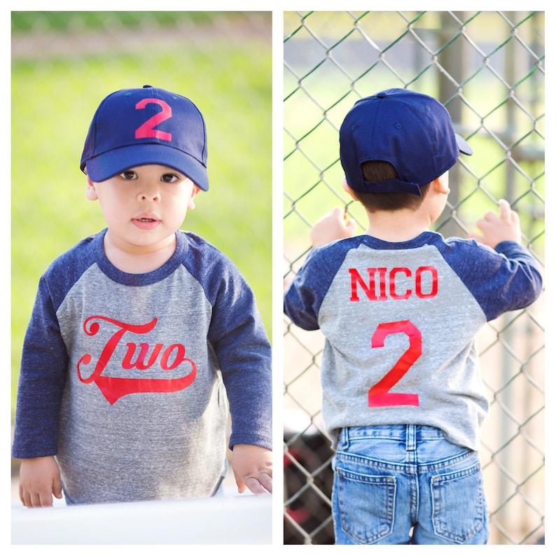 2nd Birthday Baseball Shirt Second Boys