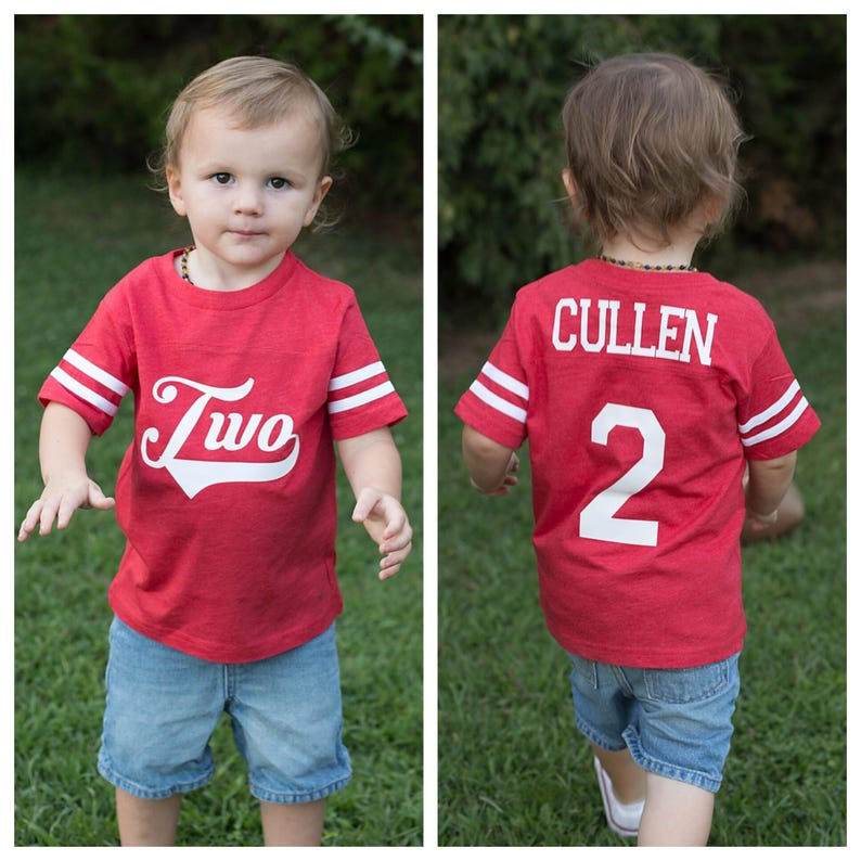 1338b01d36b59 2nd Birthday shirt, Football birthday shirt, Baseball Birthday Shirt,  sports birthday shirt, youth football jersey, boys birthday party