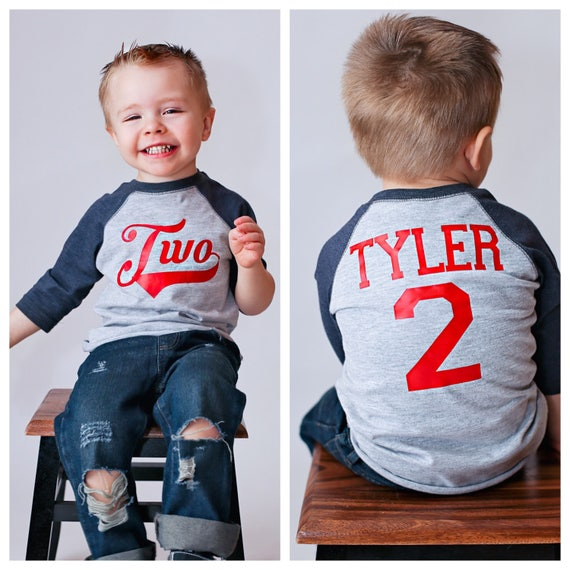 2nd Birthday Baseball Shirt Boys