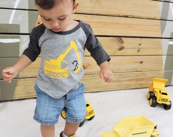 2nd birthday construction shirt