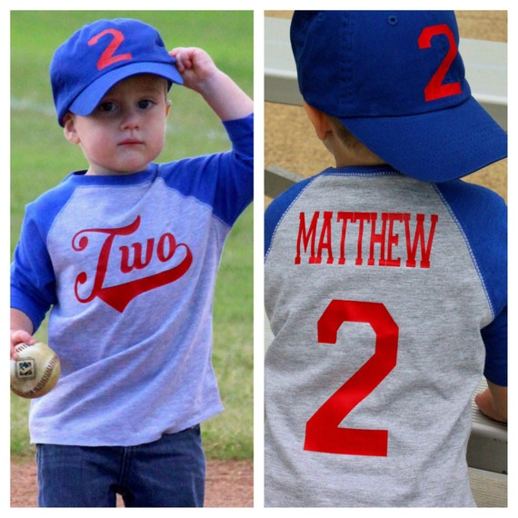 Baseball Birthday Shirt 2nd Boys
