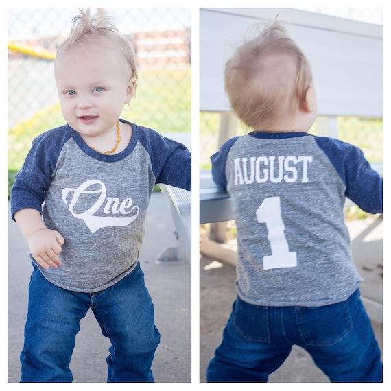 Boys 1st Birthday Baseball Shirt Cake Smash
