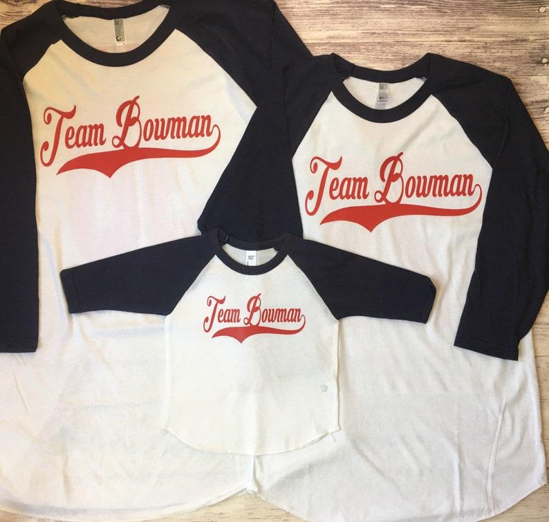 3 Baseball Family Shirts Boys Birthday Baseball Family