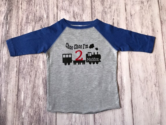 2nd Birthday Train Shirt Choo Im 2