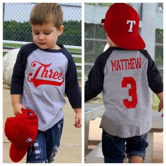 da60e403 3rd birthday shirt Baseball birthday shirt boys third | Etsy
