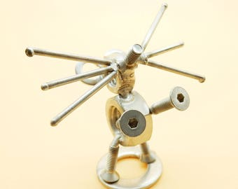 Mouse sculpture Topo Collection Mice Topo Art Mouse bolts Gift Mouse Precious Mouse Steel Mouse Metal Mouse Art Metal