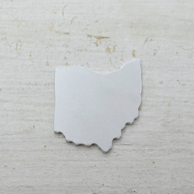 Qty 5 Deburred and Tumbled Ohio Aluminum Metal Stamping Blank