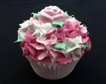 Victorian Rose Fake Cupcake