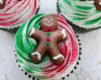 Ginger Boy Fake Christmas Cupcake