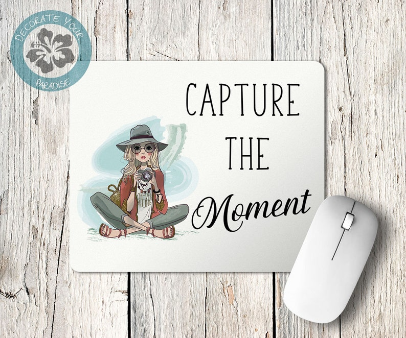 Capture the Moment Mouse Pad Photographer Gift Desk image 0