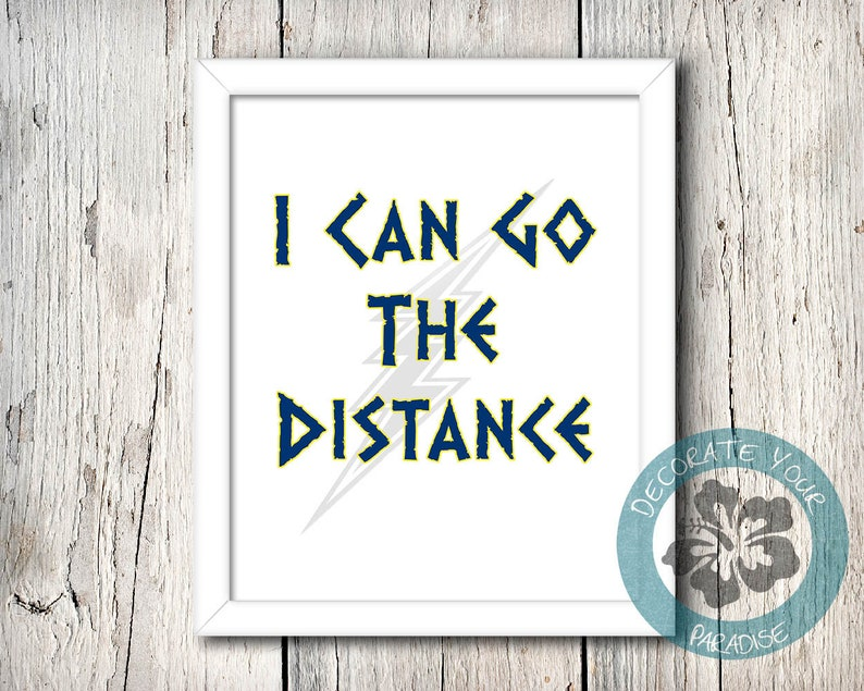 Hercules disney poster I Can Go The Distance Art Printable image 0