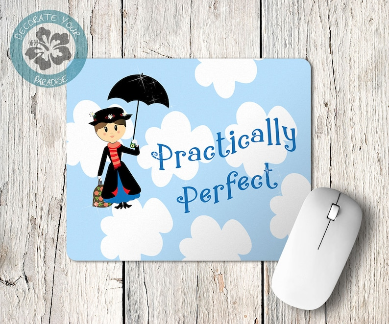 Mary Poppins Practically Perfect Mousepad Mouse Pad Desk image 0