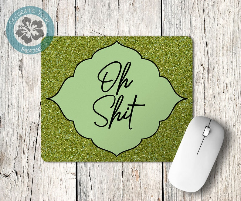 Oh Shit Loki Quote Mousepad Mouse Pad Desk Office Accessories image 0
