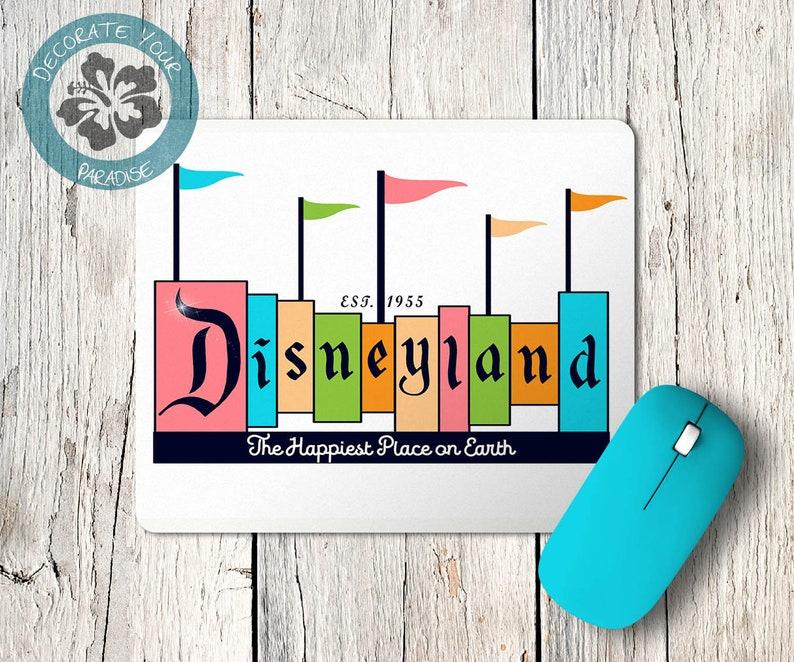 Disneyland Mousepad Desk Decor Office Accessories  Vintage image 0