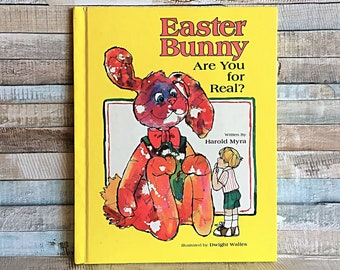 Vintage Easter Bunny Book, Are You Real, Harold Myra, Easter Book Gift, Religious Book, Holiday Book, Childrens Book, Vintage Kids Book