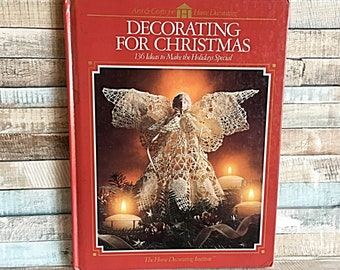 Vintage Christmas Decorating Book, Christmas Table Centerpiece, Holiday Yard, Outdoor Western Decorations, Christmas Star, Holiday Décor