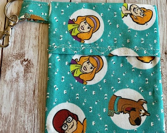 Scooby Bag, Scooby Mask Case, Scooby Carrying Case, Scooby-Doo Mask Bag, Blue Scooby Bag, Scooby Key Chain, Mask Holder, Scooby Doo