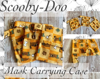 Scooby Bag, Scooby Mask Case, Scooby Carrying Case, Scooby-Do Mask Bag, Orange Scooby Bag, Scooby Key Chain, Backpack Charm, Scooby Wallet