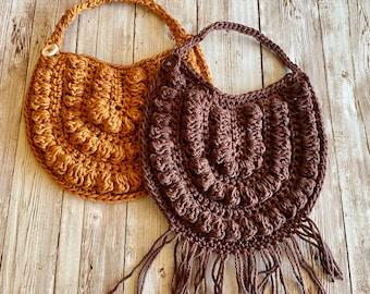Crochet Newborn Bib, Crochet Baby Gift Set, Crochet Bib, Boho Baby, Boho Bib, Burnt Orange, Newborn Gift, Baby Shower Gift, New Mom Gift